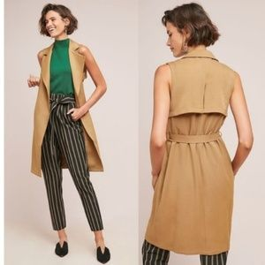 Anthropologie French Mauve Sleeveless Trench
